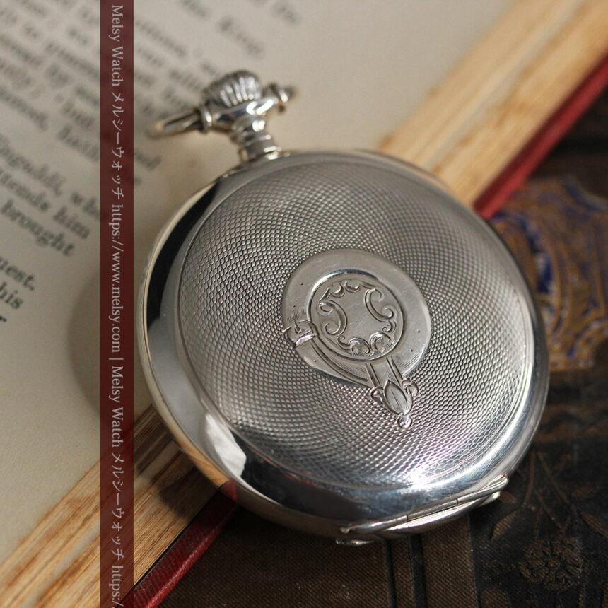 オメガの風格ある重厚な銀無垢アンティーク懐中時計 【1913年製】-P2273-12