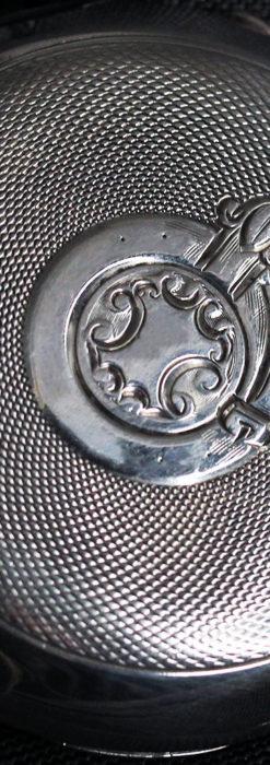 オメガの風格ある重厚な銀無垢アンティーク懐中時計 【1913年製】-P2273-14