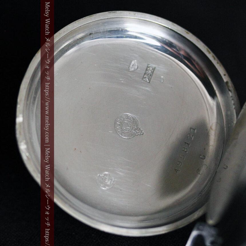 オメガの風格ある重厚な銀無垢アンティーク懐中時計 【1913年製】-P2273-16