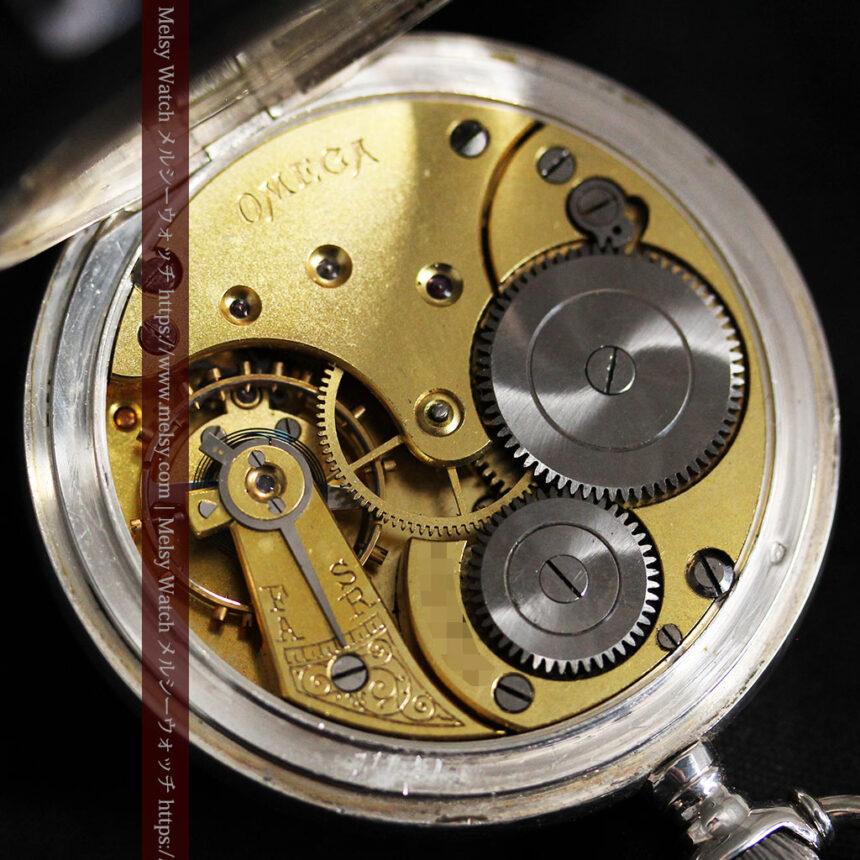 オメガの風格ある重厚な銀無垢アンティーク懐中時計 【1913年製】-P2273-19