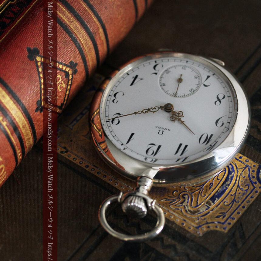 オメガの風格ある重厚な銀無垢アンティーク懐中時計 【1913年製】-P2273-5