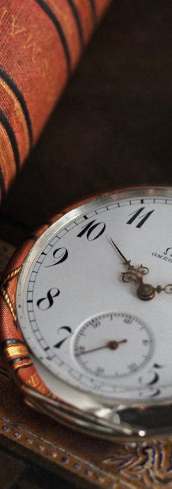 オメガの風格ある重厚な銀無垢アンティーク懐中時計 【1913年製】-P2273-6
