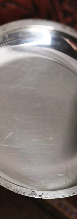 黒金装飾と彫りが美しいロンジンの銀無垢アンティーク懐中時計 【1905年製】革紐付き-P2274-21