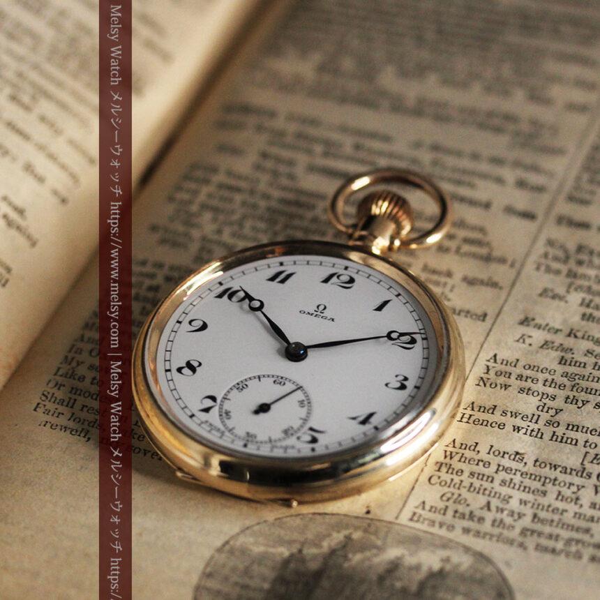 オメガの基本を押さえたアンティーク懐中時計 【1938年製】-P2275-3