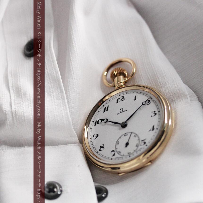 オメガの基本を押さえたアンティーク懐中時計 【1938年製】-P2275-4