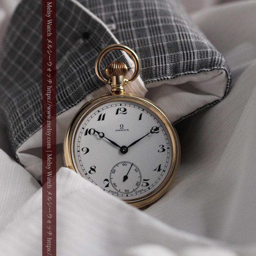 オメガの基本を押さえたアンティーク懐中時計 【1938年製】-P2275-5