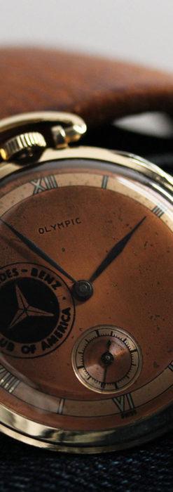 メルセデスベンツ倶楽部のアンティーク懐中時計 【1950年頃】-P2277-3