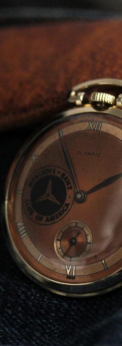メルセデスベンツ倶楽部のアンティーク懐中時計 【1950年頃】-P2277-4