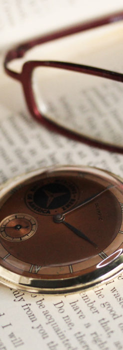メルセデスベンツ倶楽部のアンティーク懐中時計 【1950年頃】-P2277-9