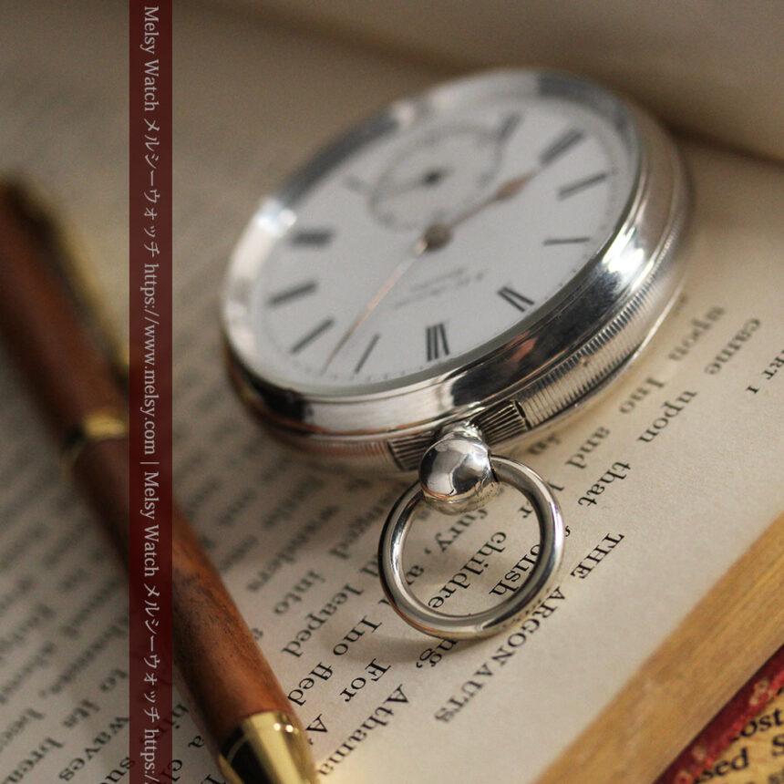 ベンソン 鍵巻き式銀無垢アンティーク懐中時計 【1888年頃】-P2279-12