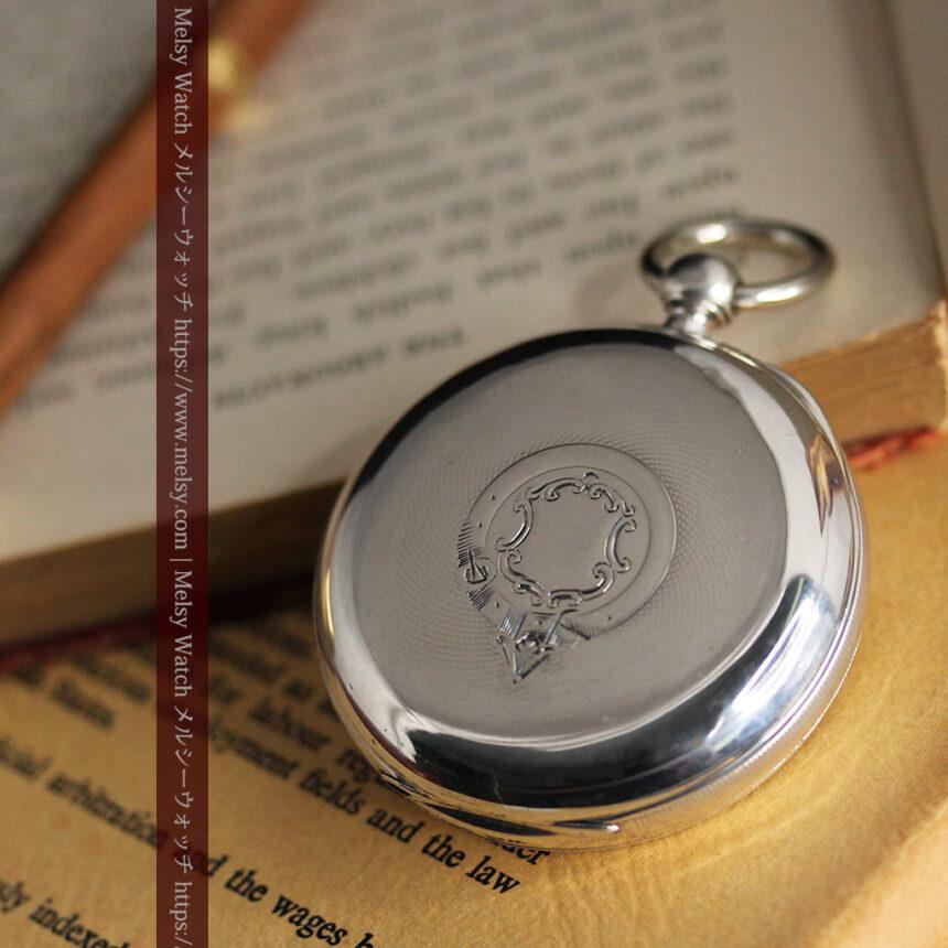 ベンソン 鍵巻き式銀無垢アンティーク懐中時計 【1888年頃】-P2279-13
