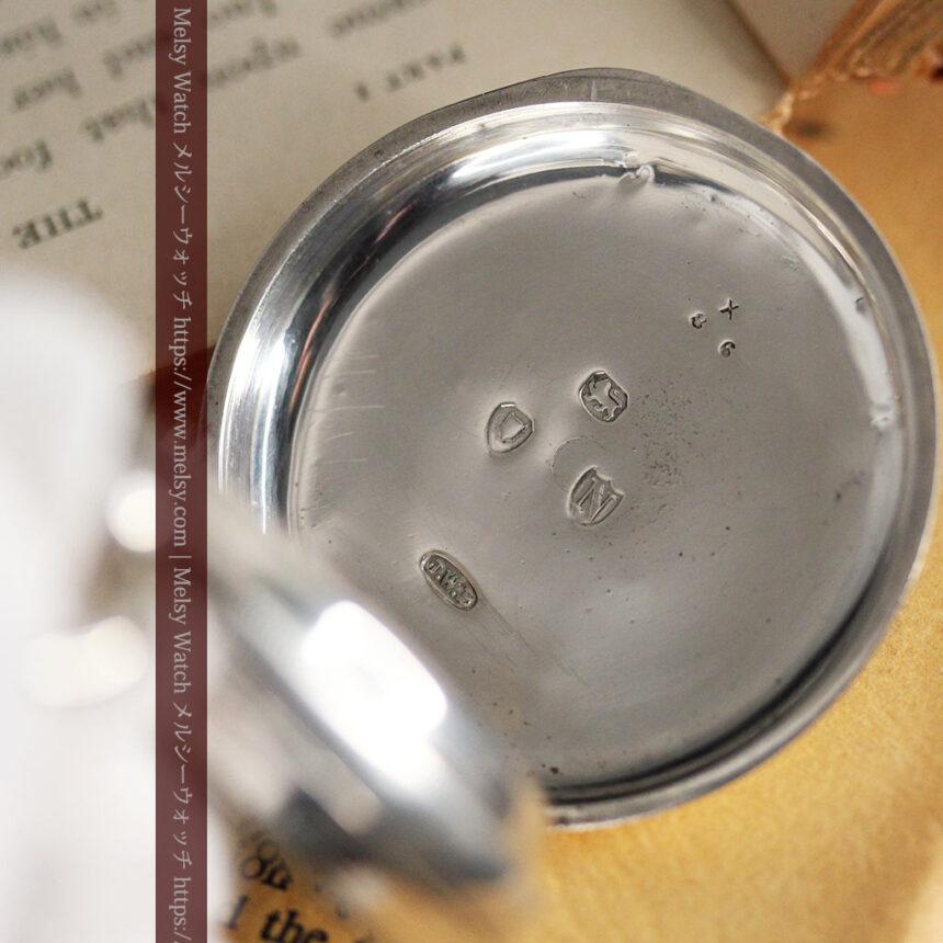 ベンソン 鍵巻き式銀無垢アンティーク懐中時計 【1888年頃】-P2279-14