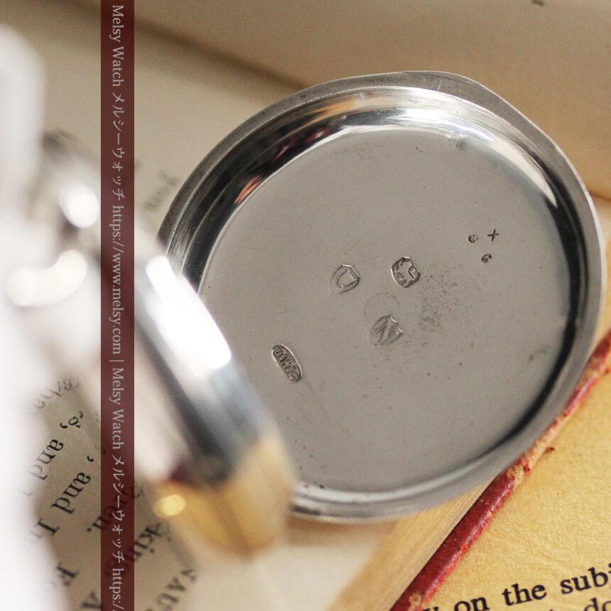 ベンソン 鍵巻き式銀無垢アンティーク懐中時計 【1888年頃】-P2279-15
