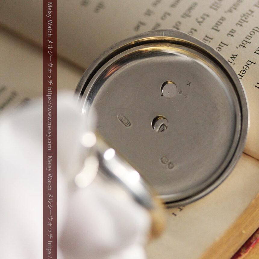 ベンソン 鍵巻き式銀無垢アンティーク懐中時計 【1888年頃】-P2279-17