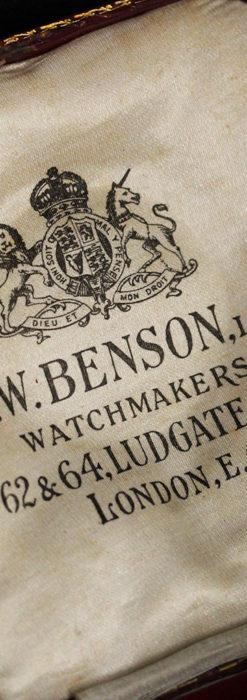 ベンソン 鍵巻き式銀無垢アンティーク懐中時計 【1888年頃】-P2279-21