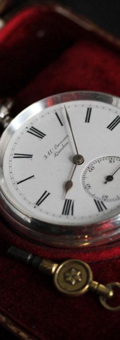 ベンソン 鍵巻き式銀無垢アンティーク懐中時計 【1888年頃】-P2279-22