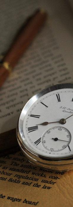 ベンソン 鍵巻き式銀無垢アンティーク懐中時計 【1888年頃】-P2279-3