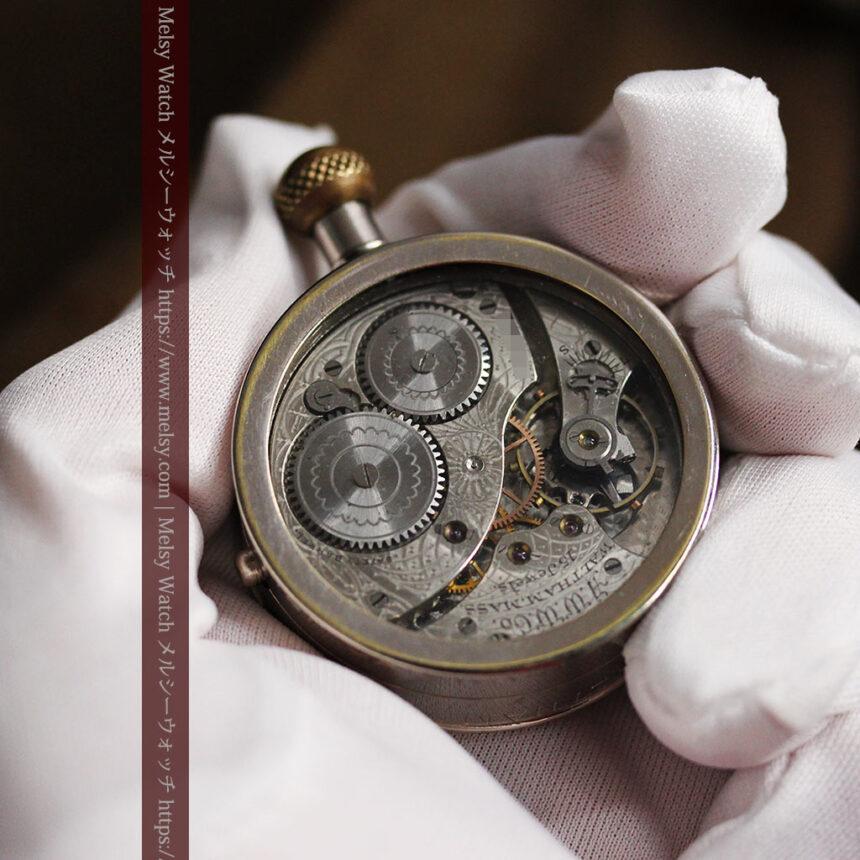 ウォルサムのスケルトン懐中時計と腕時計兼用バンド 【1900年頃】-P2291-10
