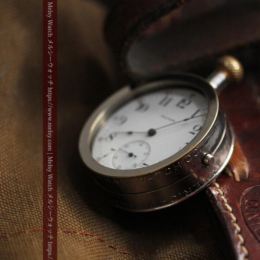 ウォルサムのスケルトン懐中時計と腕時計兼用バンド 【1900年頃】-P2291-16