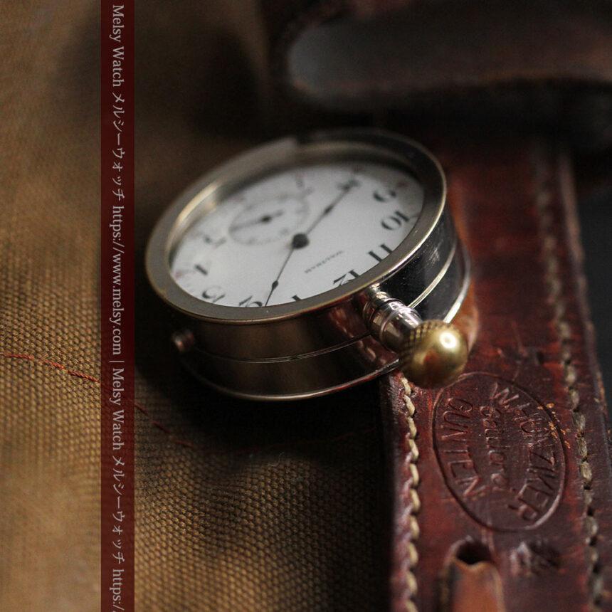 ウォルサムのスケルトン懐中時計と腕時計兼用バンド 【1900年頃】-P2291-17