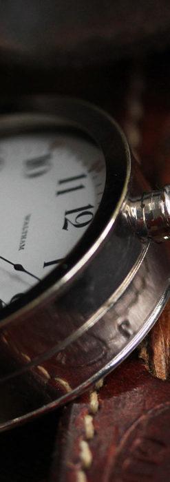 ウォルサムのスケルトン懐中時計と腕時計兼用バンド 【1900年頃】-P2291-18