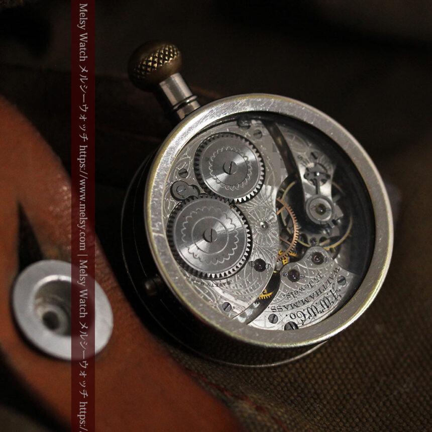 ウォルサムのスケルトン懐中時計と腕時計兼用バンド 【1900年頃】-P2291-2