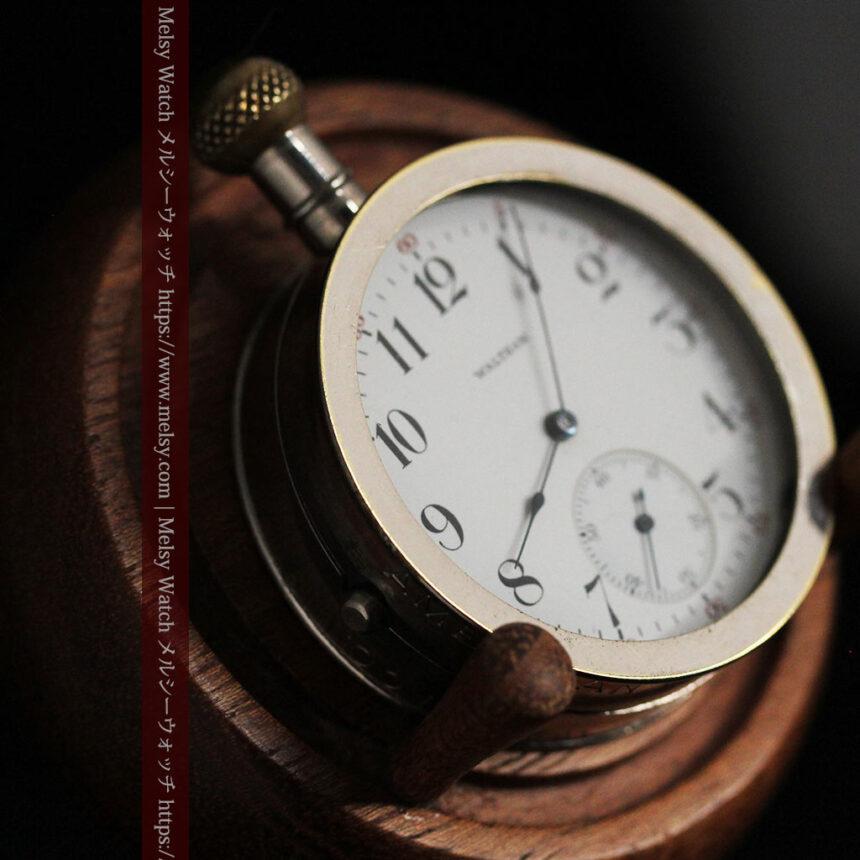 ウォルサムのスケルトン懐中時計と腕時計兼用バンド 【1900年頃】-P2291-21