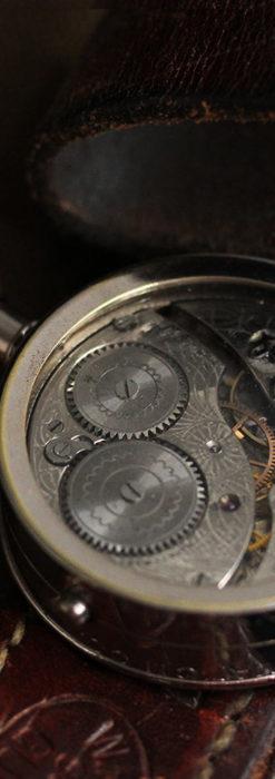 ウォルサムのスケルトン懐中時計と腕時計兼用バンド 【1900年頃】-P2291-22