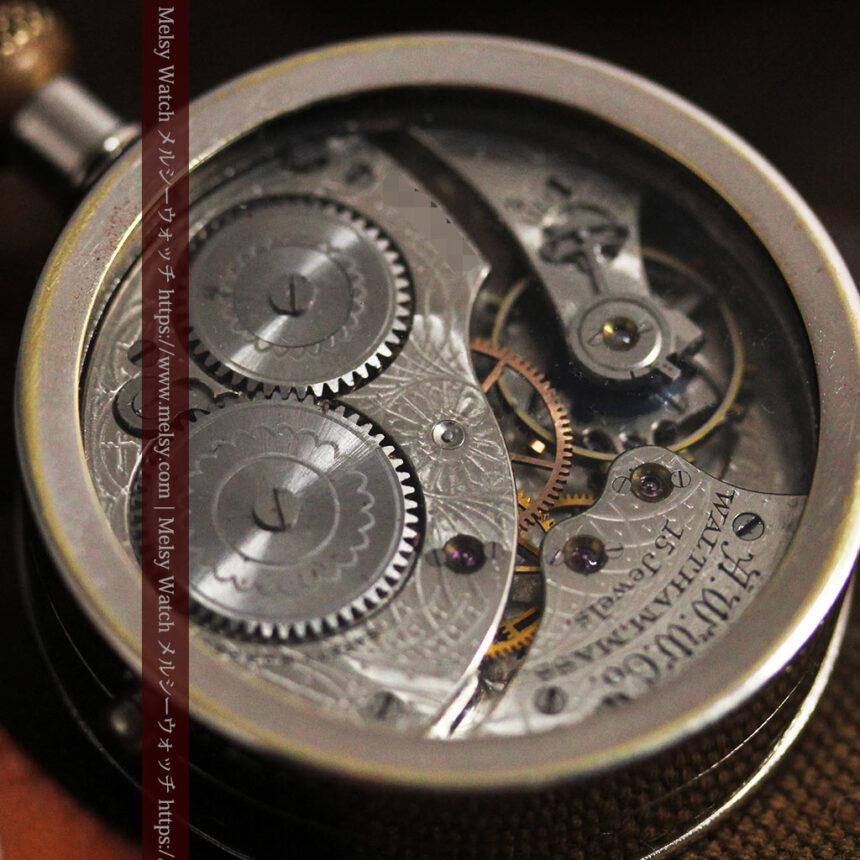 ウォルサムのスケルトン懐中時計と腕時計兼用バンド 【1900年頃】-P2291-23