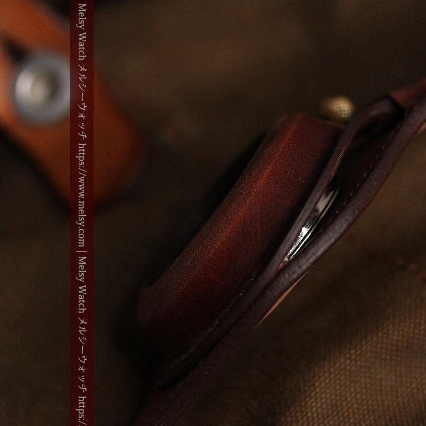 ウォルサムのスケルトン懐中時計と腕時計兼用バンド 【1900年頃】-P2291-24