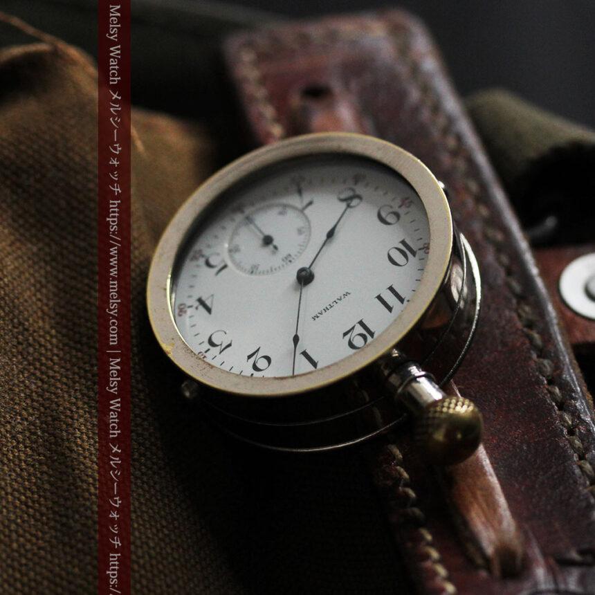 ウォルサムのスケルトン懐中時計と腕時計兼用バンド 【1900年頃】-P2291-6