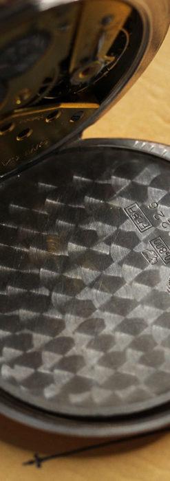 オメガ ローズ色の銀無垢アンティーク懐中時計 【1941年製】-P2293-15