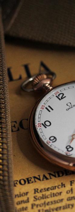 オメガ ローズ色の銀無垢アンティーク懐中時計 【1941年製】-P2293-8