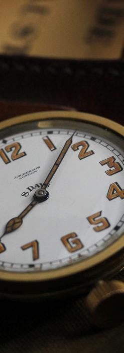 英国ベンソン 8日巻きの大型アンティーク懐中時計 【1920年頃】-P2294-10