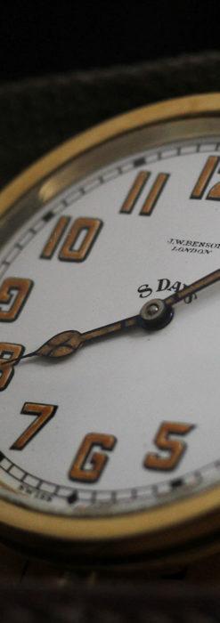 英国ベンソン 8日巻きの大型アンティーク懐中時計 【1920年頃】-P2294-11