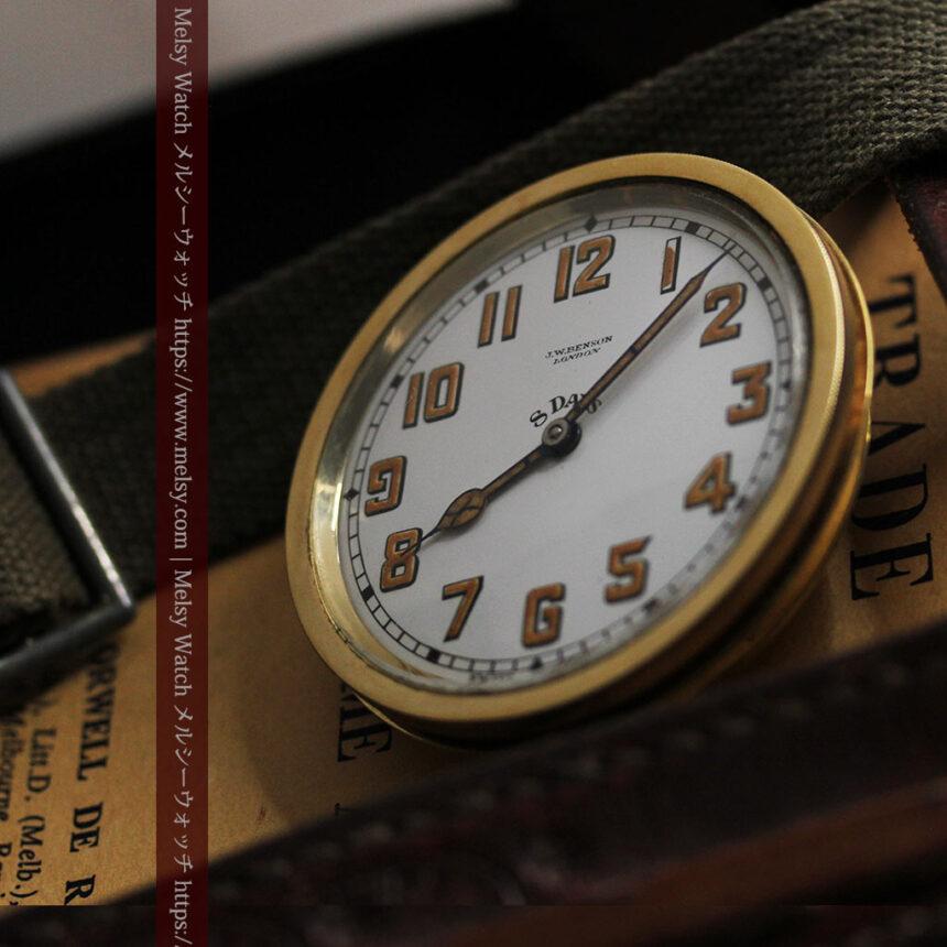 英国ベンソン 8日巻きの大型アンティーク懐中時計 【1920年頃】-P2294-12