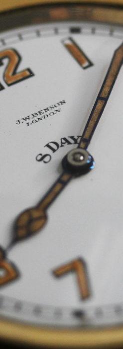 英国ベンソン 8日巻きの大型アンティーク懐中時計 【1920年頃】-P2294-13