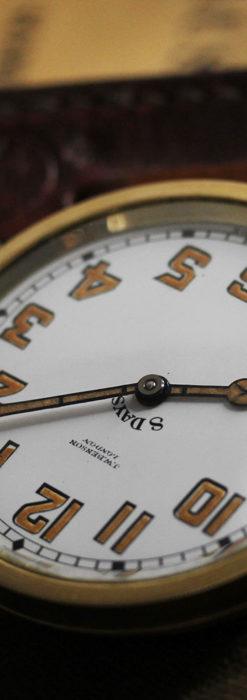 英国ベンソン 8日巻きの大型アンティーク懐中時計 【1920年頃】-P2294-15