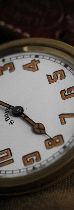 英国ベンソン 8日巻きの大型アンティーク懐中時計 【1920年頃】-P2294-16