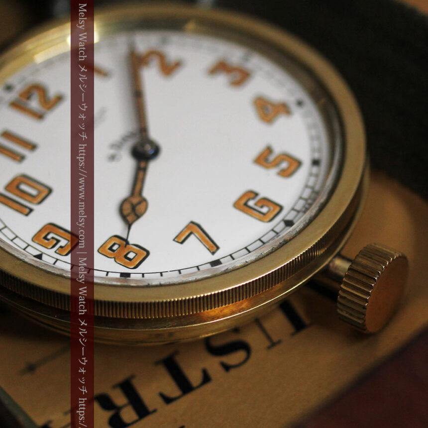 英国ベンソン 8日巻きの大型アンティーク懐中時計 【1920年頃】-P2294-17