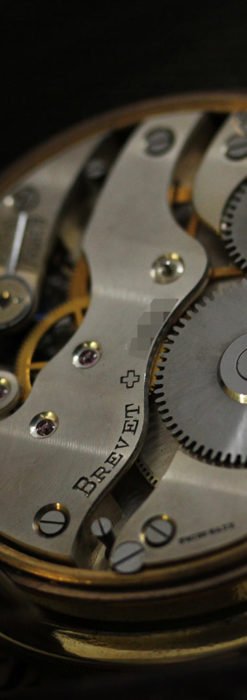 英国ベンソン 8日巻きの大型アンティーク懐中時計 【1920年頃】-P2294-19
