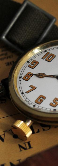 英国ベンソン 8日巻きの大型アンティーク懐中時計 【1920年頃】-P2294-2