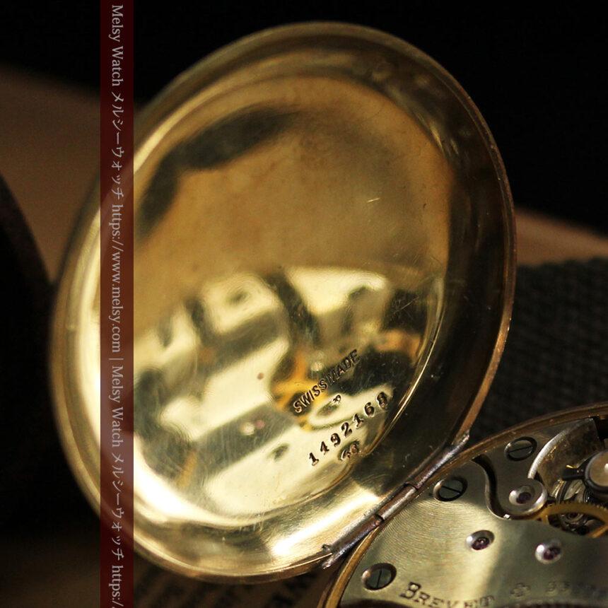 英国ベンソン 8日巻きの大型アンティーク懐中時計 【1920年頃】-P2294-20