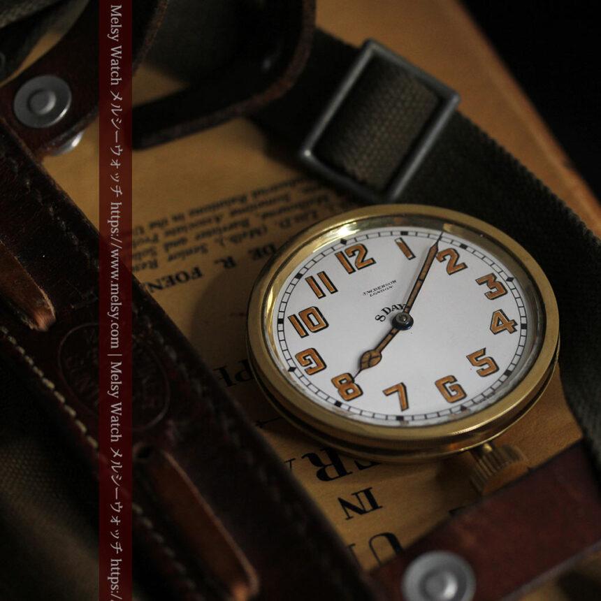 英国ベンソン 8日巻きの大型アンティーク懐中時計 【1920年頃】-P2294-4