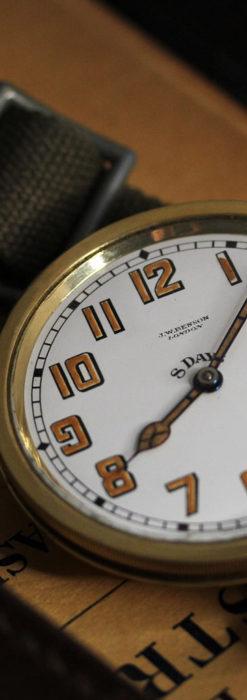 英国ベンソン 8日巻きの大型アンティーク懐中時計 【1920年頃】-P2294-5