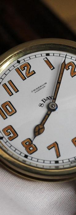英国ベンソン 8日巻きの大型アンティーク懐中時計 【1920年頃】-P2294-8