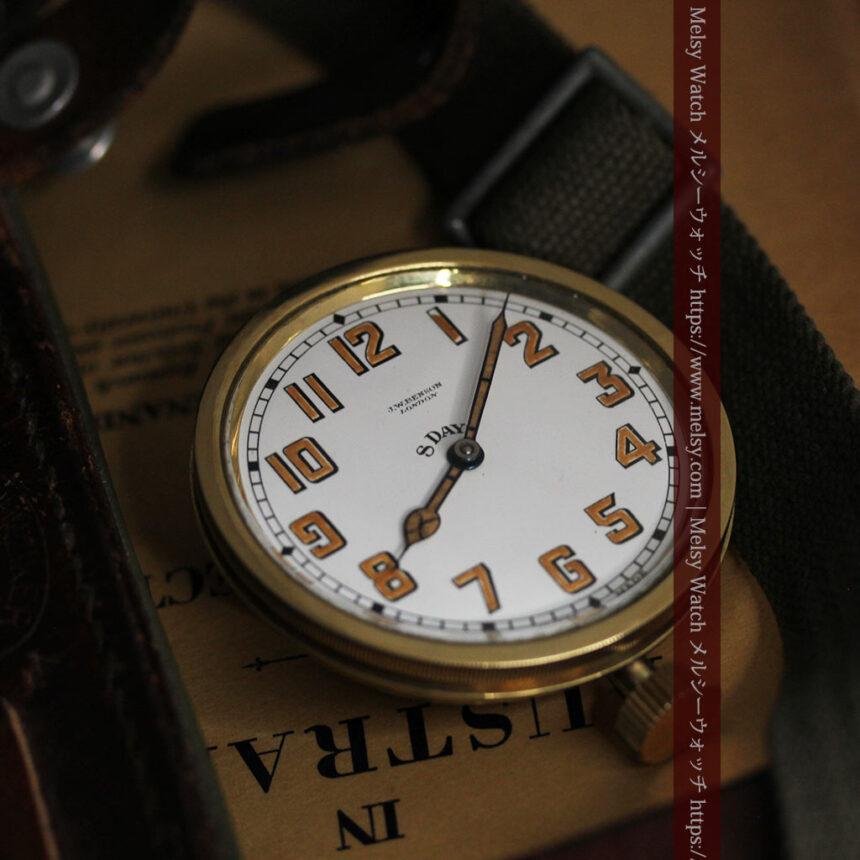 英国ベンソン 8日巻きの大型アンティーク懐中時計 【1920年頃】-P2294-9