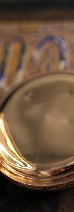 オメガ 彫りと装飾の美しい14金無垢アンティーク懐中時計 【1907年製】-P2296-20
