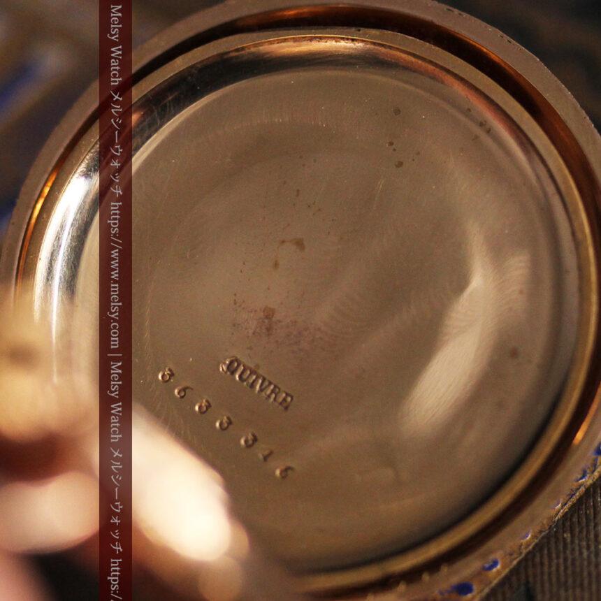 オメガ 彫りと装飾の美しい14金無垢アンティーク懐中時計 【1907年製】-P2296-21