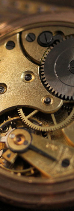 オメガ 彫りと装飾の美しい14金無垢アンティーク懐中時計 【1907年製】-P2296-22